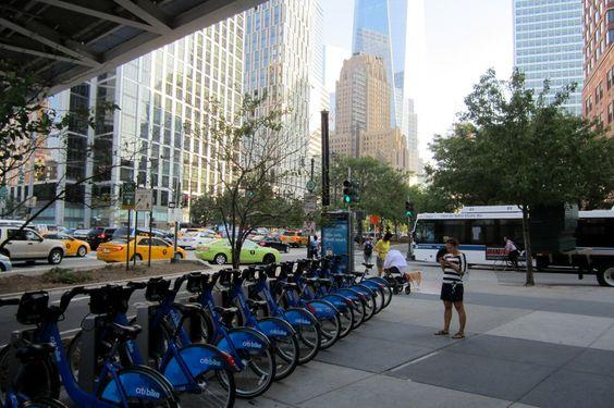 Citi Bike Docking Station NYC Manhattan