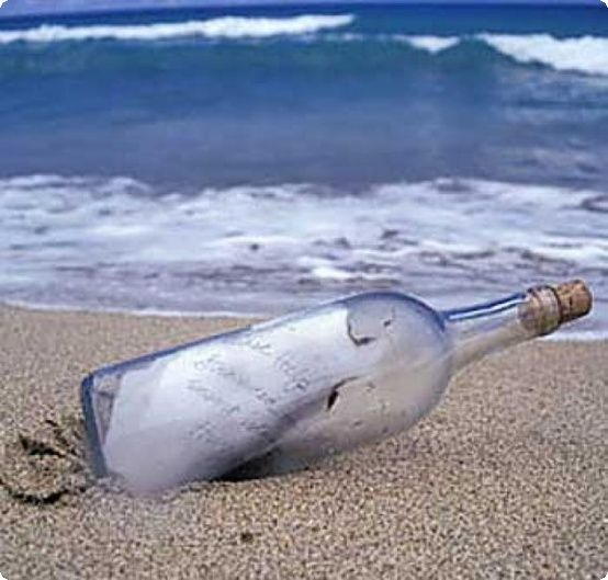 Send a message in a bottle to your loved ones back home #beachlife #loveFL
