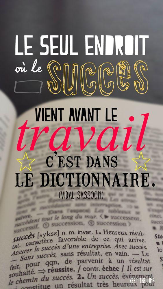 L'Inspiration de la Semaine #travail #succes #entrepreneur #motivation (Pour ceux qui espèrent le succès!):