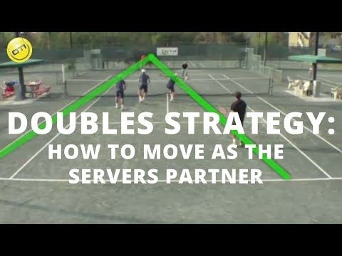 1 Tennis Doubles Strategy How To Move As The Servers Partner Youtube Tennis Doubles Tennis Strategies