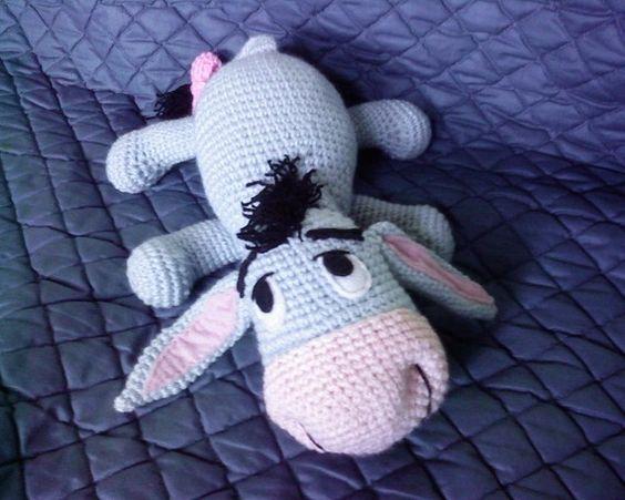 Crochet Amigurumi Eeyore : PDF - Eeyore the Winnie the Poohs donkey friend - 12 ...