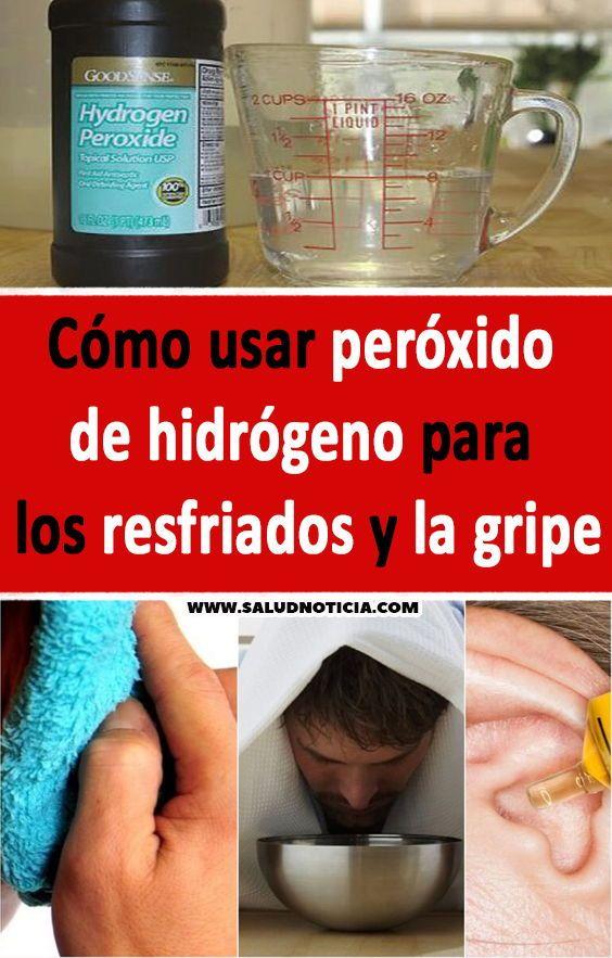 Cómo Usar Peróxido De Hidrógeno Para Los Resfriados Y La Gripe Remedios Caseros Salud Trucos Liquid Measuring Cup Measuring Cups