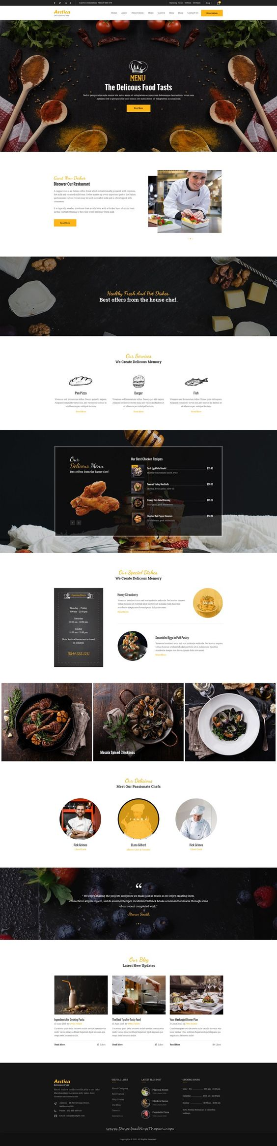 Artica is wonderful premium #PSD Template suitable for all types of #Restaurant business #website. Download Now!