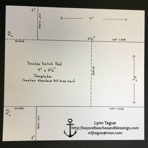 StampinUp Double Dutch Fold Card Template, designed by demo Lynn