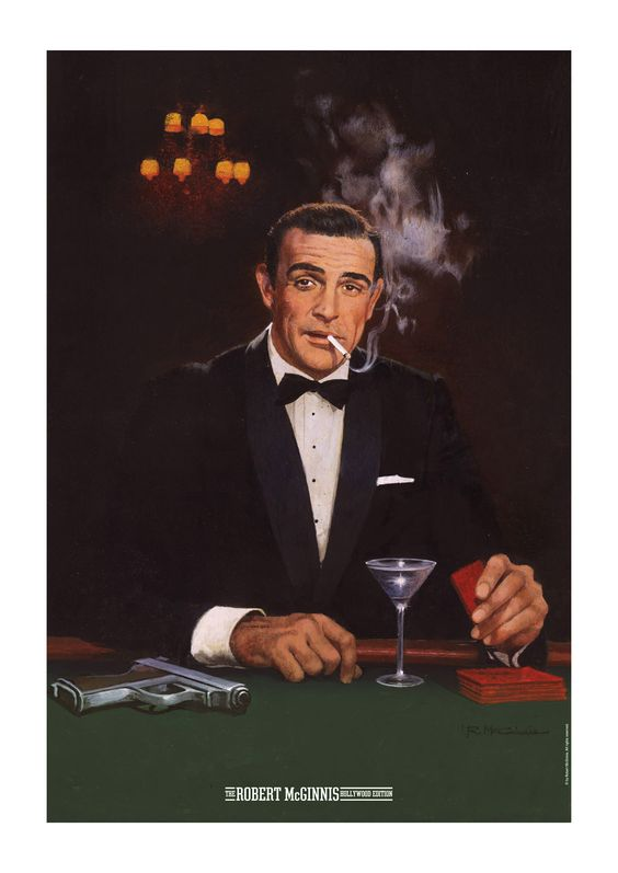 Robert McGinnis (1926 -) illustrator of Ian Fleming (creator of James Bond 007) books and Bond Movie Posters