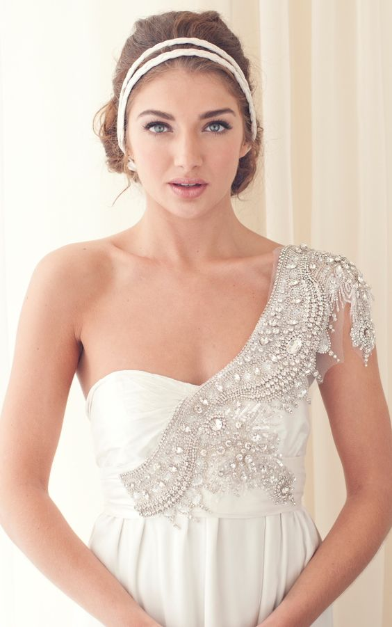Love the hair band Anna Campbell Wedding Gowns