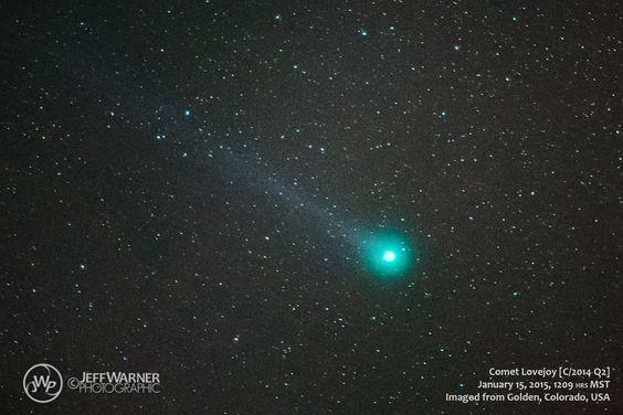 Astrophotographer Jeff Warner caught Comet Lovejoy C/2014 Q2 in Golden, Colorado, on Jan. 15, 2015.