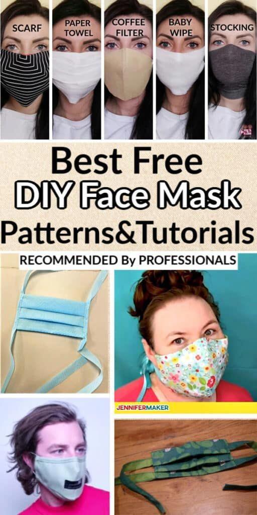 No Sew Face Mask By Jennifer Maker Pattern In 2020 Easy Face Mask Diy Face Mask Tutorial Diy Face Mask