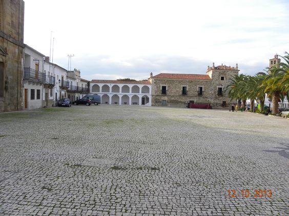 Plaza de la Corredera, Alcántara.