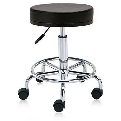 Dr Lomilomi Hydraulic Swivel Rolling Clinic Stool Chair With Foot Rest 504 504 With Footrest With Wheel Black Adjustable Stool Stool Chair Stool Heavy duty shop stool with wheels