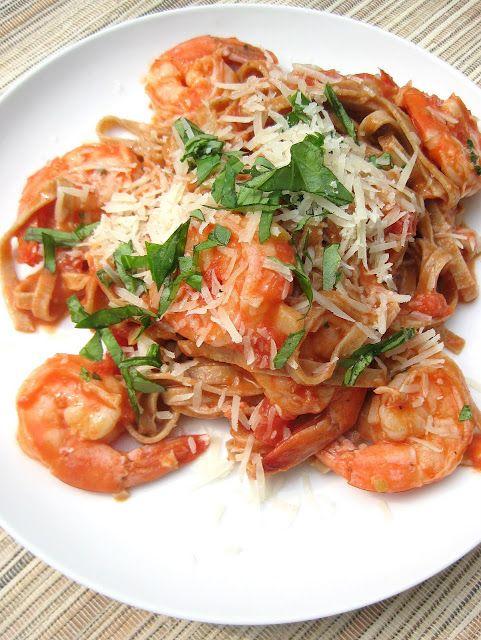 Spicy Shrimp Fettucine