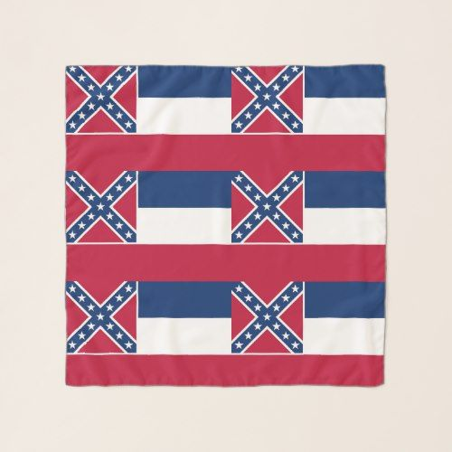 Square Scarf With Flag Of Mississippi State Usa American Flag Scarf Mississippi Flag Flag