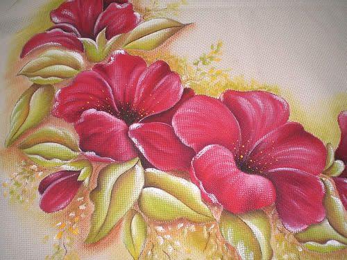 Dibujos de flores para pintar en tela manteles buscar for Pinturas para pintar