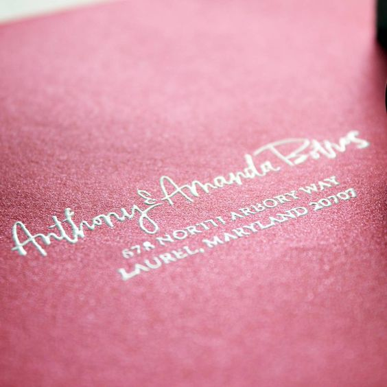 Embossed return addresses, yes please!!  #ashbushinvitations