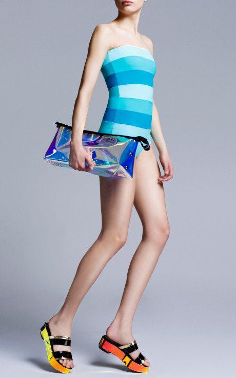Aqua And Jade Talia Swimsuit by Roksanda Ilincic - Moda Operandi