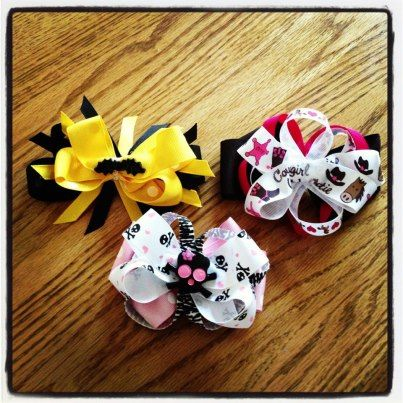 Batman bow, Skeleton bow, Cowgirl bow