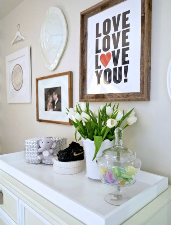 Simple nursery print - Love, Love, Love You!: Decor Ideas, Nursery Picture, Kid Things, Nursery Ideas, Baby Room, Master Bedroom