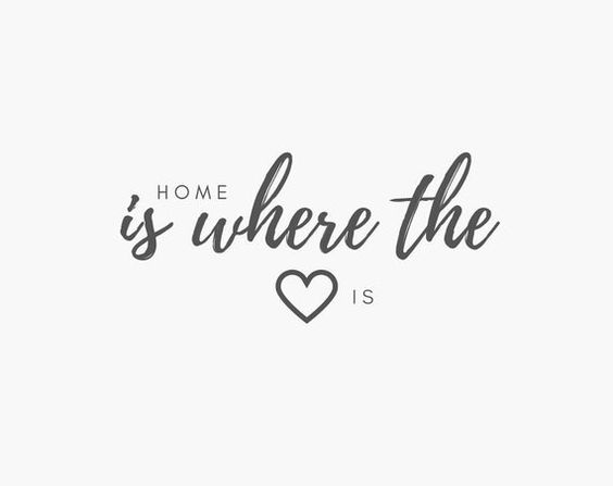 Home Is Where The Heart Is Digital Download - Typography Wall Art Prints - Minimalist Home Decor