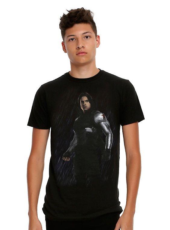 Marvel Captain America: Civil War Winter Soldier T-Shirt, BLACK