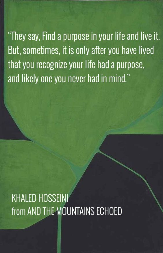 KHALED HOSSEINI from AND THE MOUNTAINS ECHOED