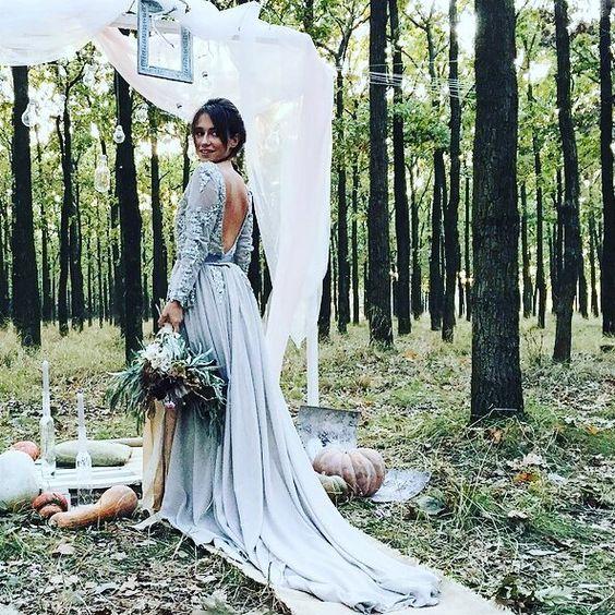 The beautiful Boho Bride in the woods - great gypsy wedding day inspo from @garbuwka! . . #wedding #instaweddings #boho #bride #bridesdress #weddingdesign #gypsy #bigday #fashion #stylegram #fblogger #foreversummer