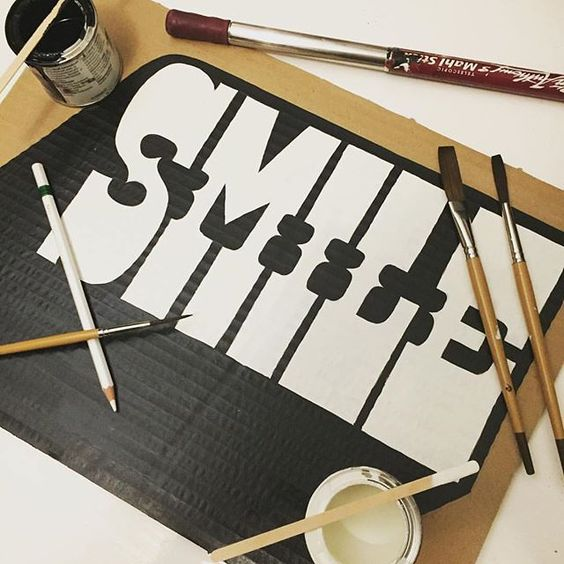 Smile its weekend time by @helsignki - Daily typography & lettering design love ❤️ - typostrate - typostrate.com