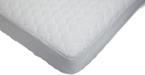 American Baby Company Waterproof Quilted Cotton Crib & Toddler Mattress Pad Cover, White American Baby Company