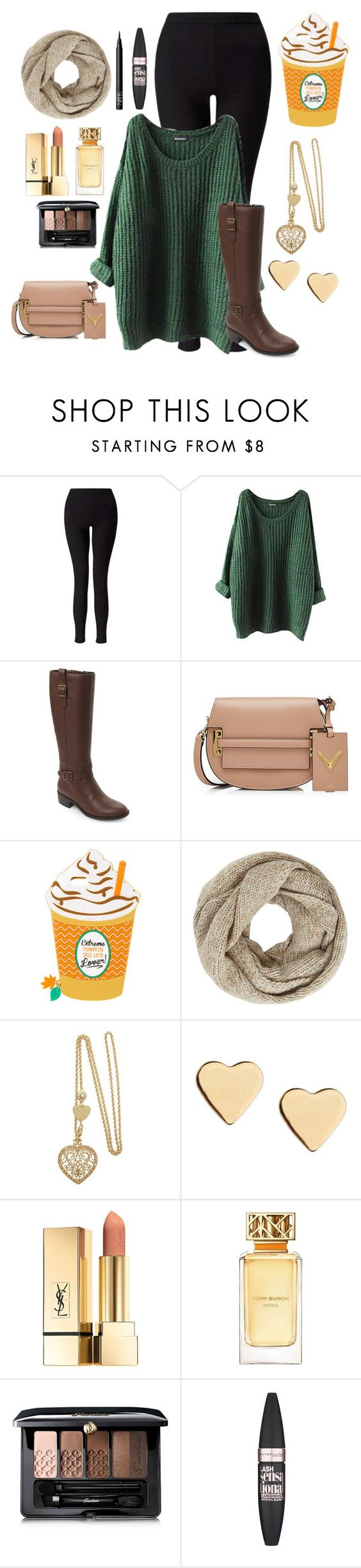 """""""Ready for fall"""" by jazz-dazzle ❤ liked on Polyvore featuring Miss Selfridge, Cole Haan, Valentino, John Lewis, Lipsy, Tory Burch, Guerlain, Maybelline and NARS Cosmetics"""