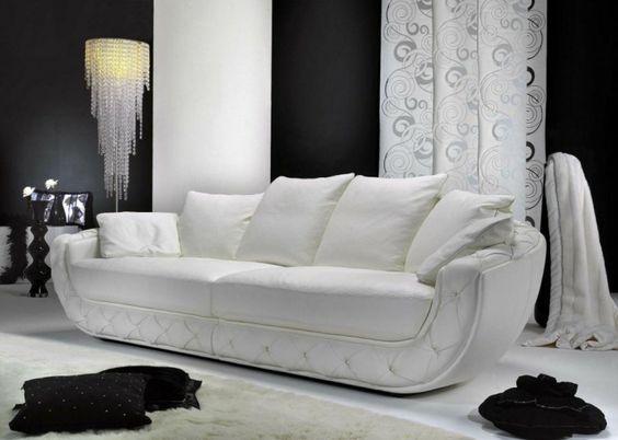 italienische sofas italienische polstermöbel weiß kissen | Möbel ...