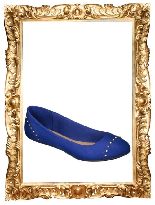 Studded Ballet Flat - $15 (was $22, see these in red and purple here)