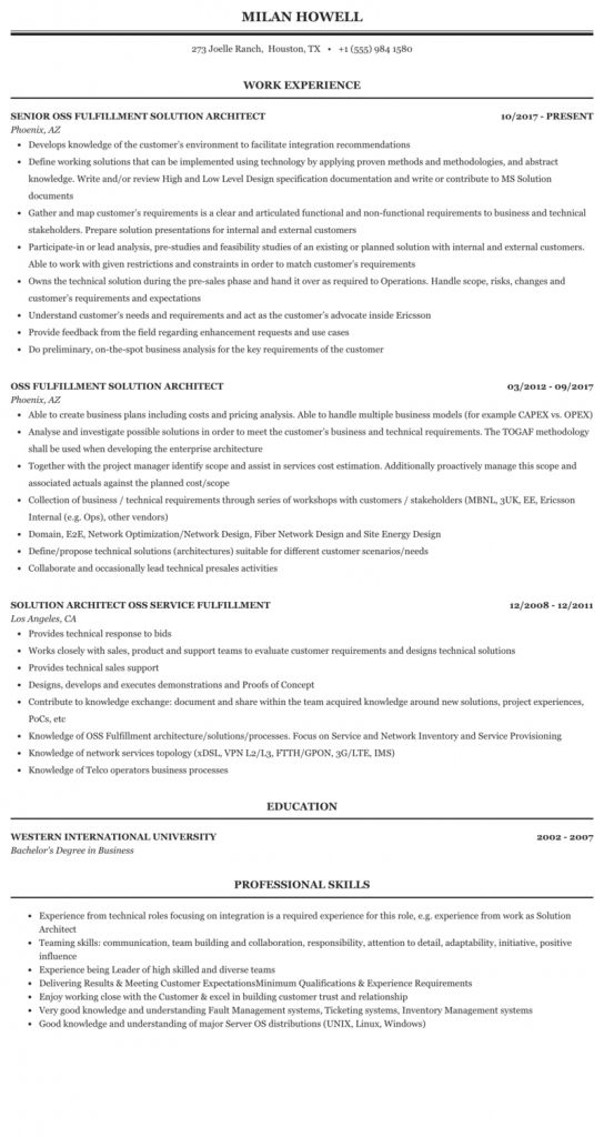 It Solution Architect Resume 2021 Architect Resume Architect Resume Sample Nursing Resume Template