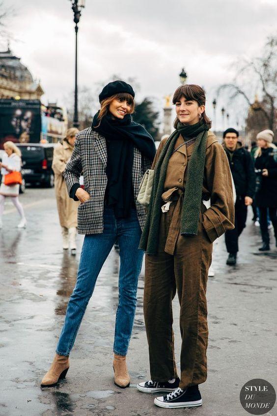 Paris FW 2019 Street Style: Cris Herrmann and Sinara Barbosa