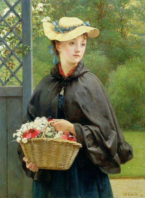 the-gardners-daughter-1876-George-Dunlop-Leslie