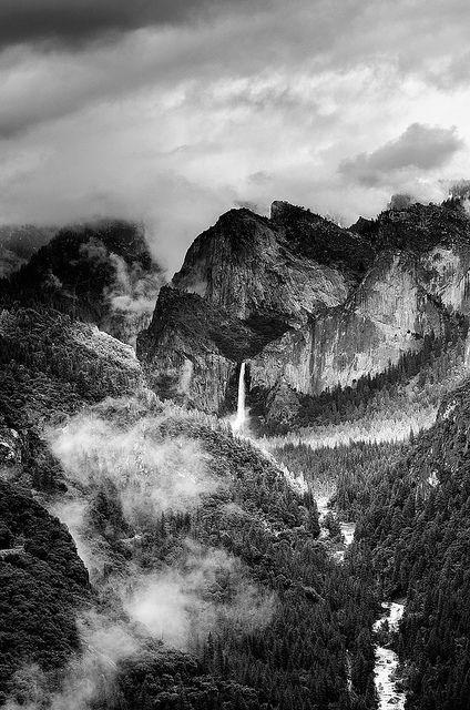 Drama in the Valley - Bridalveil Falls, Yosemite National Park, California