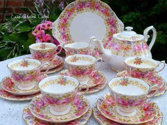 Vintage English Tea Sets and China Tea Sets for Sale - UKVINTAGE ...