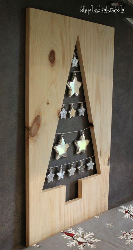DIY : Un sapin perforé dans une planche de bois ... - Stéphanie bricole: