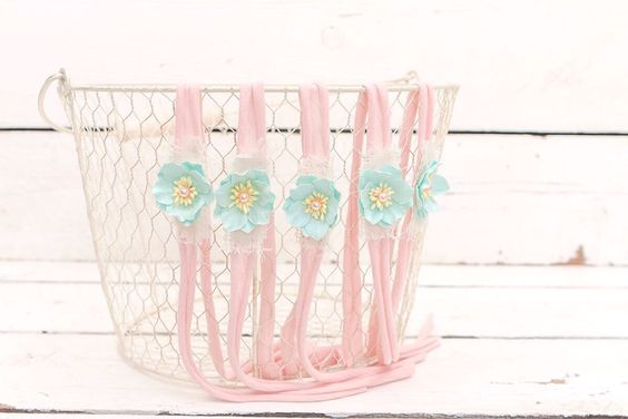 A personal favorite from my Etsy shop https://www.etsy.com/listing/463156396/cotton-candy-blooms-newborn-headband