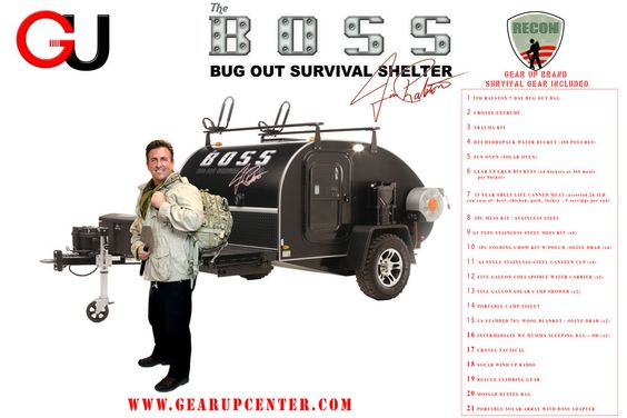 Bug Out Shelter Ideas : Gear up center the b o s bug out survival shelter