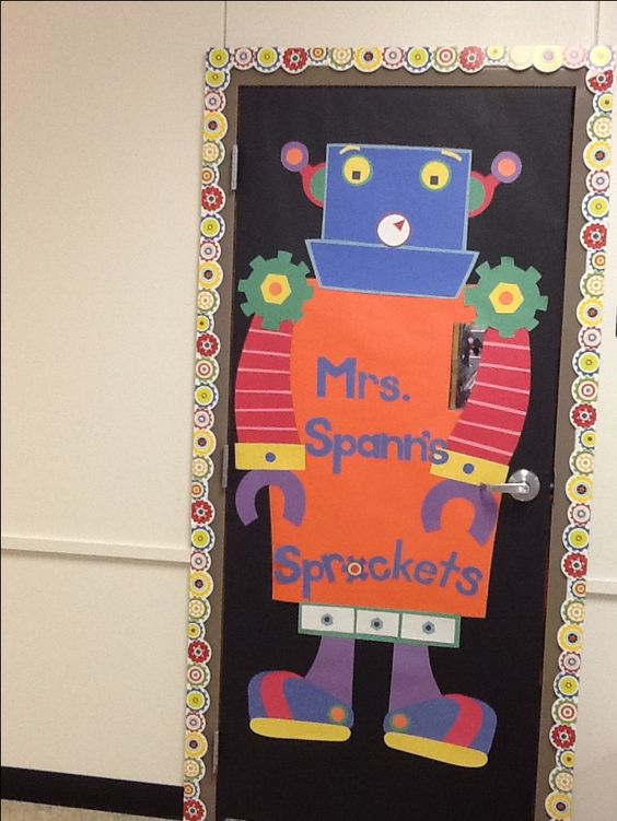 Robots In The Classroom Bulletin Boards Pinterest In