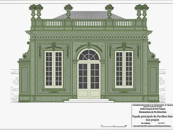 Versailles le pavillon frais jardin francais de le petit for Architecte jardin 3d gratuit