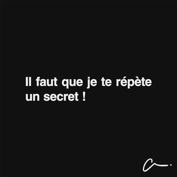 Il faut que je te répète un secret. #lescartons