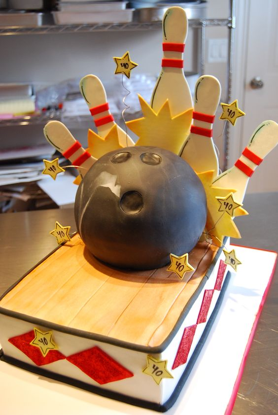 Pictures Of Birthday Caked With Bowling On It