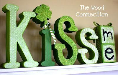 St. Patrick's Day wood Cutout