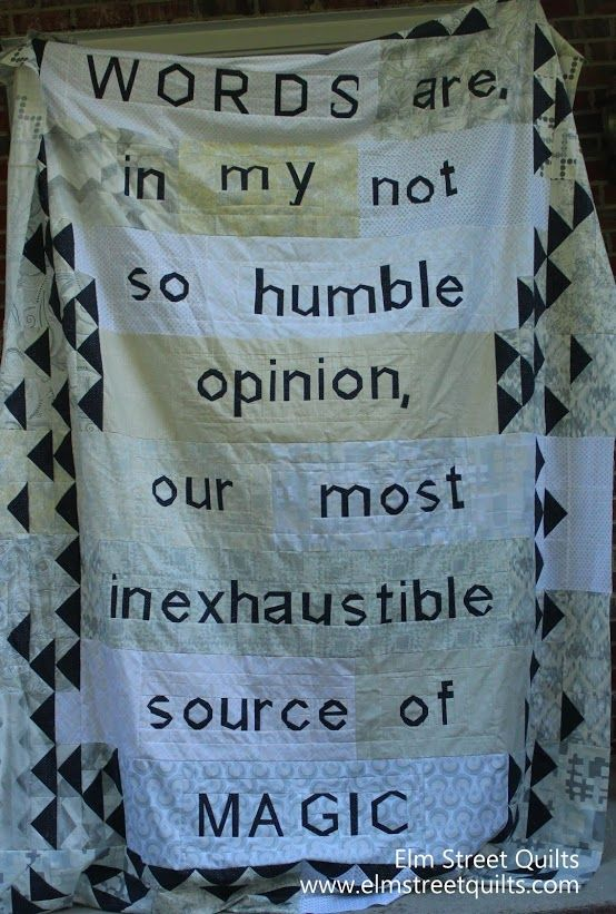 Elm Street Quilts: Words are - quilt top is finished!!!: