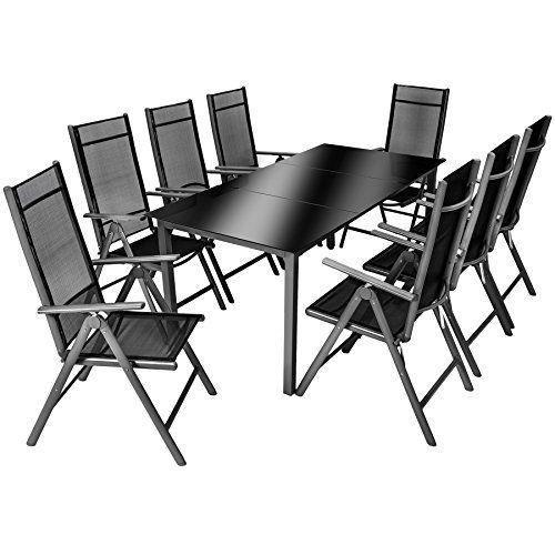 TecTake Aluminium 81 salon de jardin ensemble sièges meubles ...
