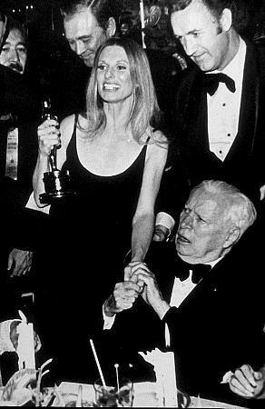 """""""Academy Awards: 44th Annual,"""" Cloris Leachman, Charlie Chaplin, Gene Hackman.  1972."""