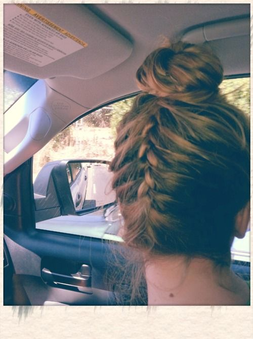 Have any of you tried this upside-down braid-bun?