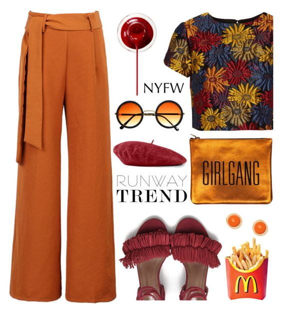 """Hot NYFW Runway Trend"" by deeyanago ❤ liked on Polyvore featuring Alice + Olivia, WithChic, Gucci, Kenneth Jay Lane and NYFW"