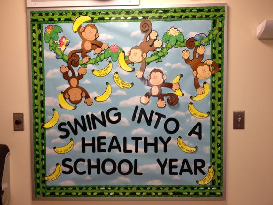 My first school nurse bulletin board. :) love it!