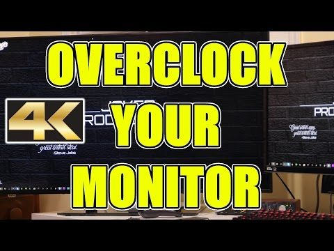 How To Overclock Any Monitor Refresh Refresh Rate 4k 72hz Refresh Rate Monitor Refreshing
